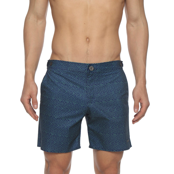 "NEW ARRIVAL- 6"" Scales Print Catalonia Stretch Tailored Swim Trunk"