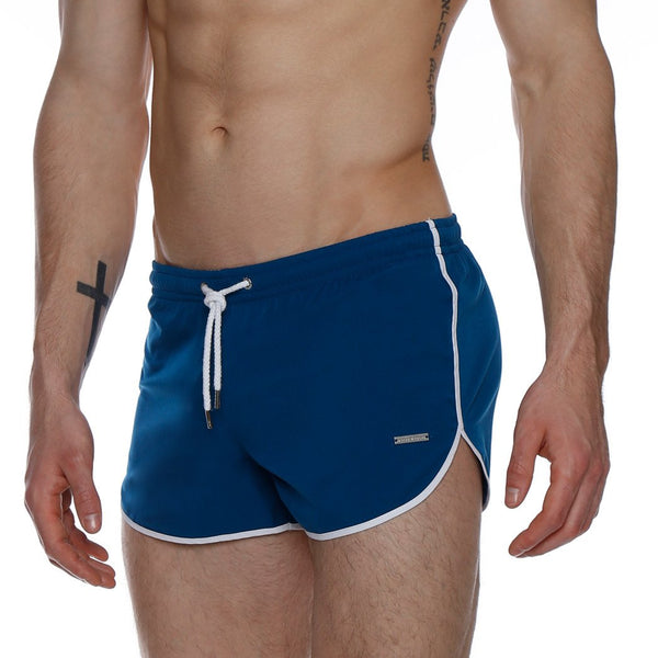 "3"" Resort Solid Stretch Retro Swim Sprinter"