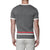 [parke & ronen] Contrast Striped Knit Crewneck Tee - grey (Thumbnail)