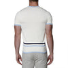 [parke & ronen] Contrast Striped Knit Crewneck Tee - off white (Thumbnail)