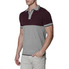 [parke & ronen] Colorblock Knit Polo - grey/aubergine (Thumbnail)