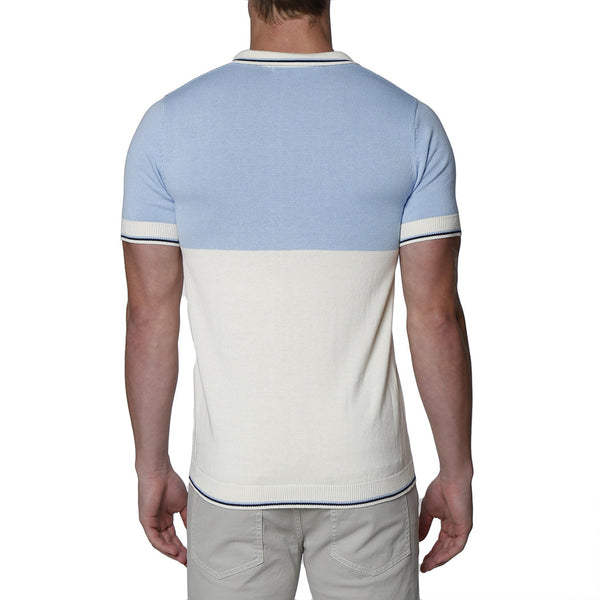 Colorblock Knit Polo