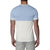 [parke & ronen] Colorblock Knit Polo - off white/sky (Thumbnail)