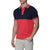[parke & ronen] Colorblock Knit Polo - salmon/navy (Thumbnail)