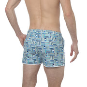 "Medina Blue 2"" Angeleno Print Stretch - parke & ronen"