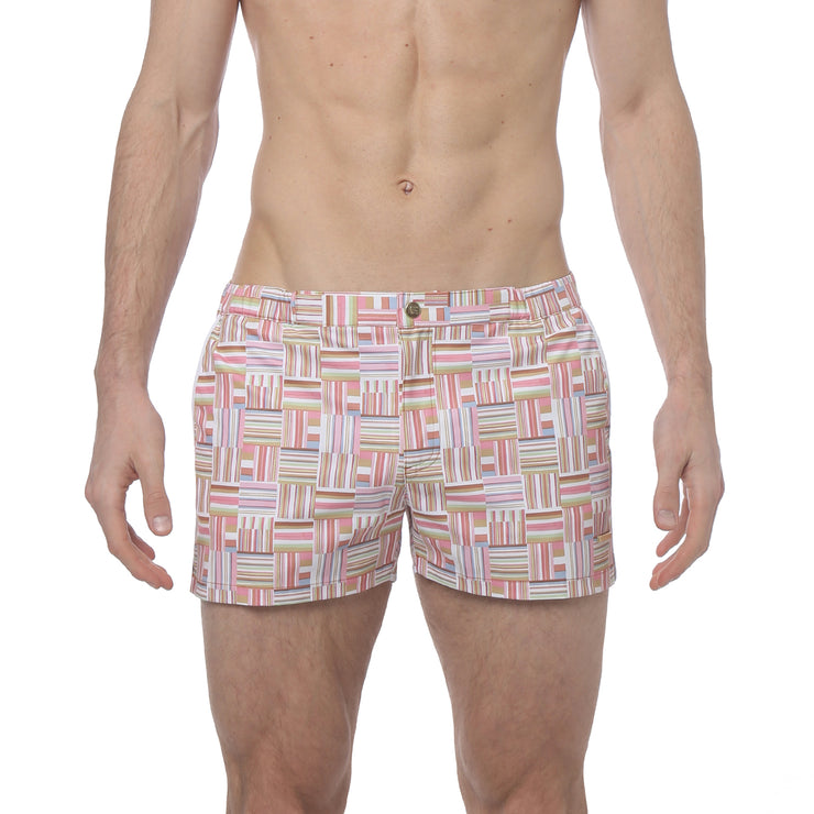 "Medina Tan 2"" Angeleno Print Stretch - parke & ronen"