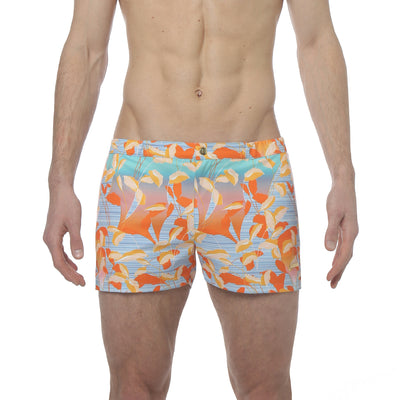 "Majorelle Turquoise 2"" Angeleno Print Stretch - parke & ronen"