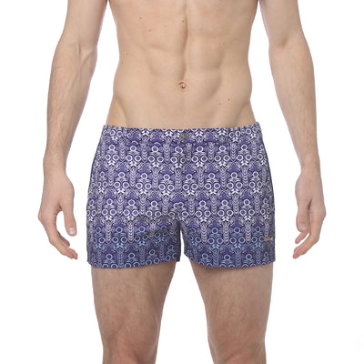 "Sunflower Blue 2"" Angeleno Print Stretch - parke & ronen"