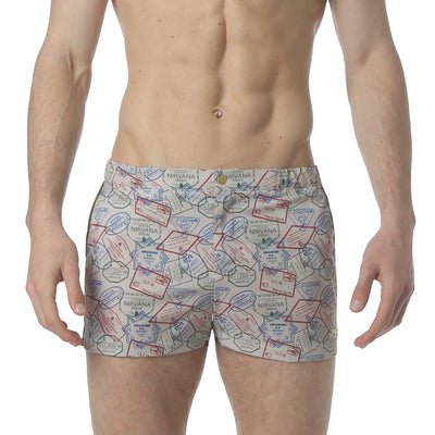 "Passport Sand 2"" Angeleno Stretch Swim Trunk - parke & ronen"