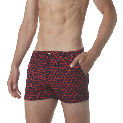 "EXCLUSIVE- Stella Navy/Red 2"" Print Angeleno Stretch - parke & ronen"