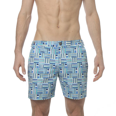 "Medina Blue 6"" Catalonia Print Stretch - parke & ronen"