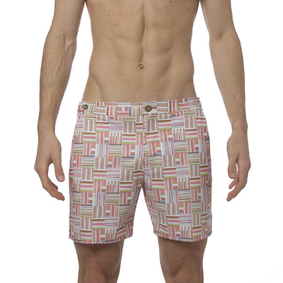 "Medina Tan 6"" Catalonia Print Stretch - parke & ronen"
