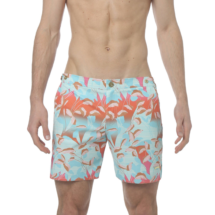 "Majorelle Rose 6"" Catalonia Print Stretch - parke & ronen"