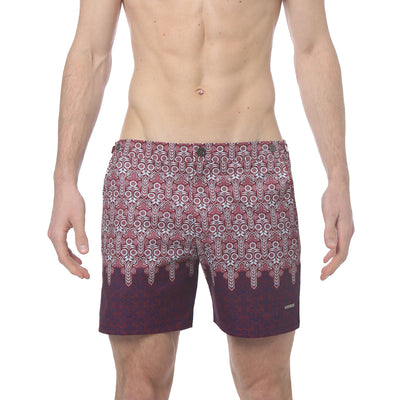 "Sunflower Crimson 6"" Catalonia Print Stretch - parke & ronen"
