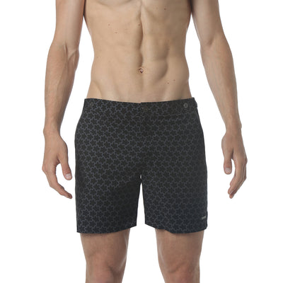 "EXCLUSIVE- Stella Black/Grey 6"" Print Catalonia Stretch - parke & ronen"