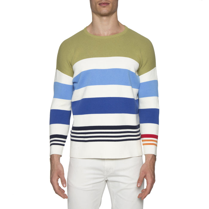 Green Multi Stripe Sweater
