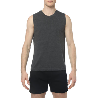 Dark Heather Grey Solid Jersey Muscle Tank - parke & ronen