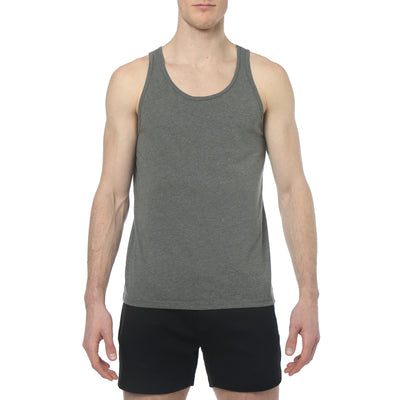 Deep Heather Grey Solid Jersey Tank Top - parke & ronen