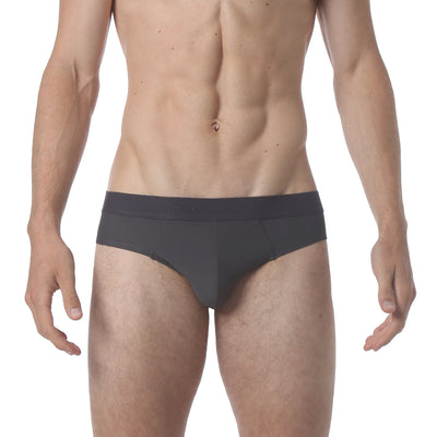 Honey Comb Low Brief - Iron Grey - parke & ronen