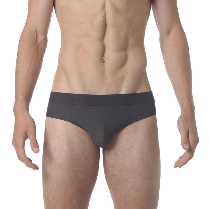 NEW - Honey Comb Low Brief - Iron Grey - parke & ronen