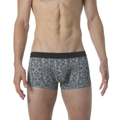 NEW - Microfiber Low Trunk - Warp Print Black - parke & ronen