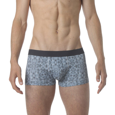 NEW - Microfiber Low Trunk - Warp Print Blue - parke & ronen