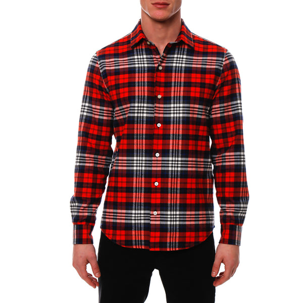 Plaid Flannel Long Sleeve Shirt