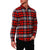 [parke & ronen] Plaid Flannel Long Sleeve Shirt - red (Thumbnail)