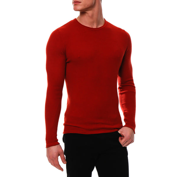 Solid Long Sleeve Waffle Knit Thermal