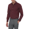 [parke & ronen] Solid Stretch Poplin Long Sleeve Shirt - maroon (Thumbnail)