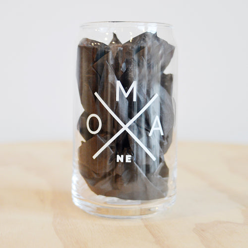 OMA X Beer Can Glass