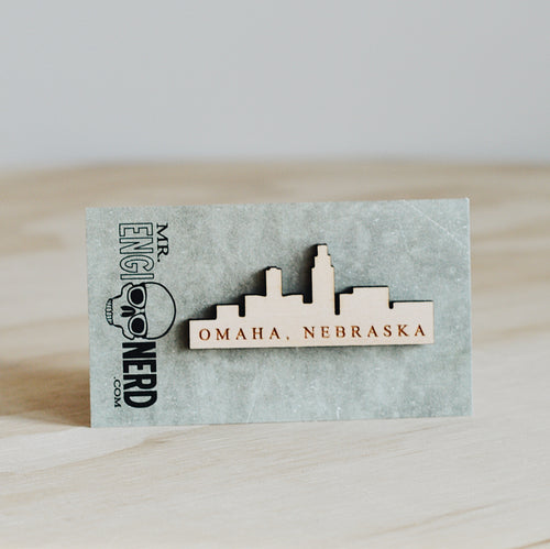 Mr. Enginerd Omaha Skyline Magnet