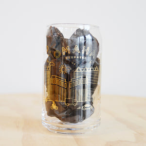 Matthew Bailey Omaha Beer Can Glass