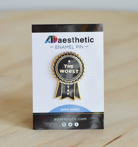 AD Aesthetic The Worst Lapel Pin