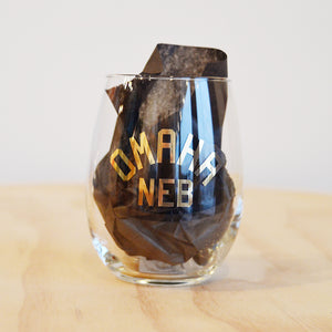 Gold Omaha Neb Wine Glass