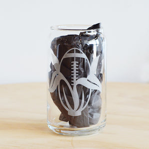 Mr. Enginerd Football Corn Beer Can Glass