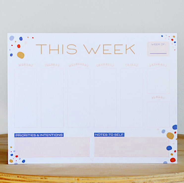 The Cold Hearted Co. Weekly Planner Pad