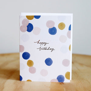 Ramona & Ruth Birthday Colorful Dots Card