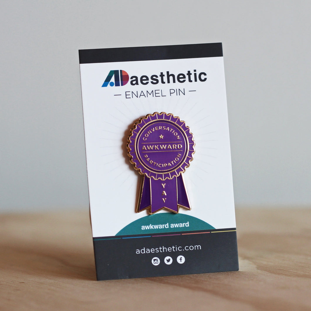 AD Aesthetic Awkward Award Enamel Lapel Pin