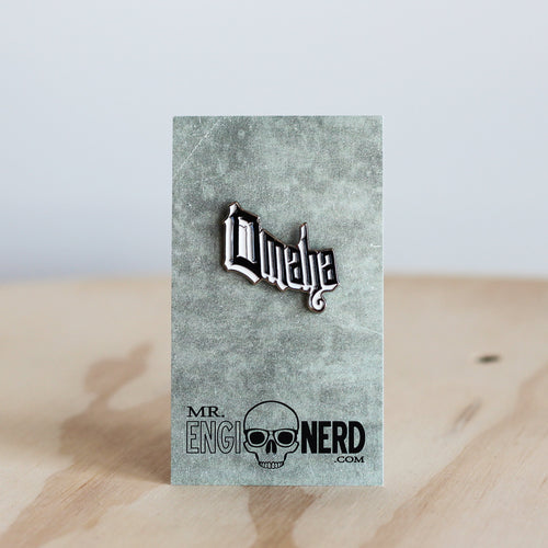 Mr. Enginerd Omaha Enamel Pin