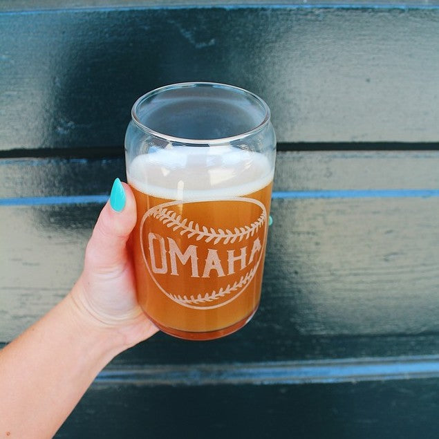 Mr. Enginerd Omaha Baseball Beer Can Glass