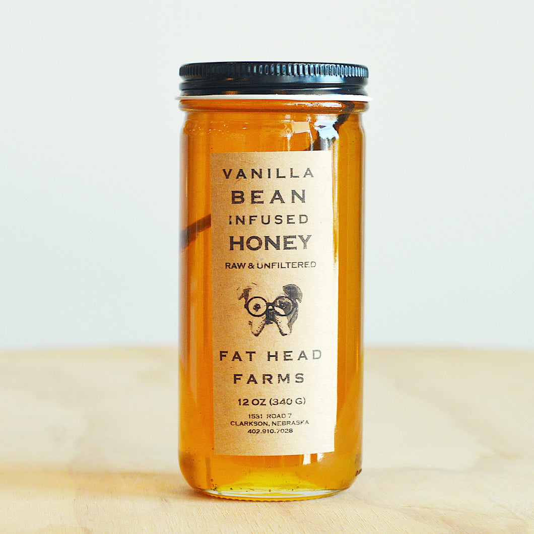 Fat Head 12 oz. Vanilla Bean Infused Honey