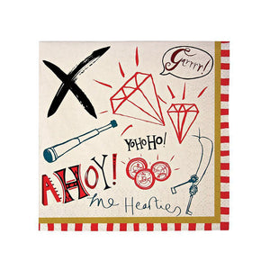 Ahoy There! Pirates Small Napkins (Pack of 20)