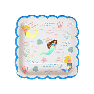 Mermaid Large Plates (Pack of 8)