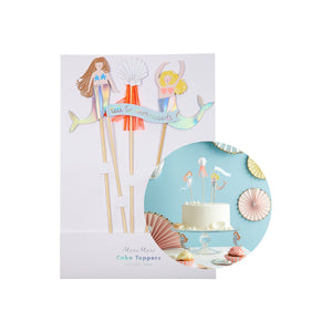Mermaids Cake Toppers (Pack of 4)