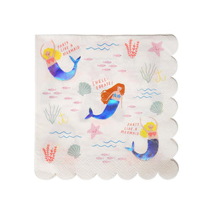 Mermaid Large Napkins (Pack of 16)