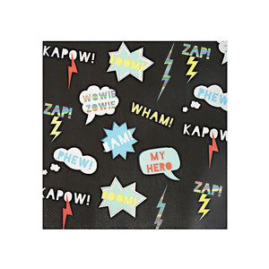 Zap! Superhero Large Napkins (Pack of 16)