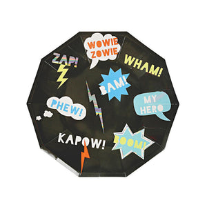 Zap! Superhero Large Plates (Pack of 8)