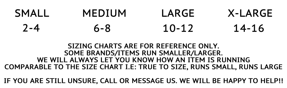 Island Girl Outfitters Size Chart