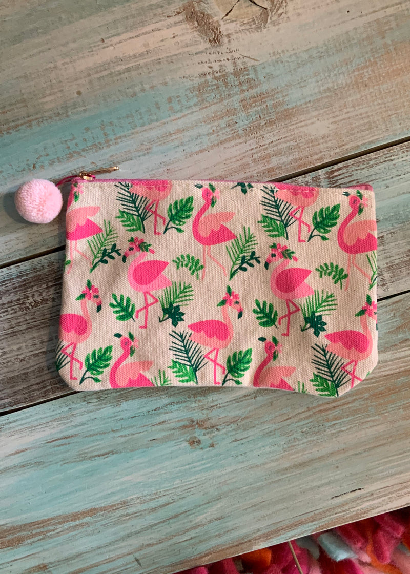 Flamingo Sparkle Pouch